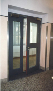 Brandschutztüren zweiflügelig, Schachttüren T30