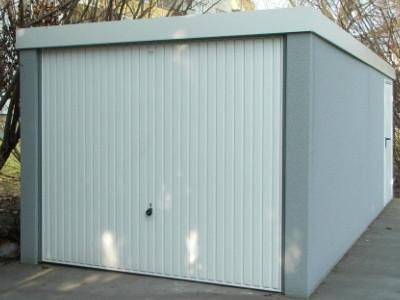 Garage aus Stahl